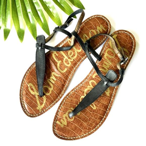 effdacaf8 Sam Edelman Gigi Sandals T Strap Boho Black Size 7.  M 5b0b04de3afbbd40bacae178